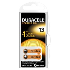 Patareid kuuldeaparaadile Duracell 13, 6 tk