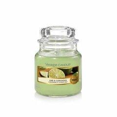 Lõhnaküünal Yankee Candle Lime and Coriander 104 g hind ja info | Küünlad, küünlajalad | kaup24.ee