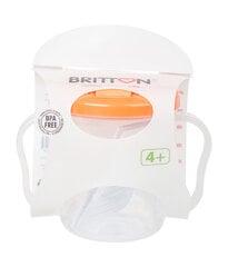 Первая детская бутылочка BRITTON, 200 мл, оранжевая цена и информация | Первая детская бутылочка BRITTON, 200 мл, оранжевая | kaup24.ee