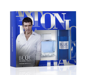 Komplekt Antonio Banderas Blue Seduction: EDT meestele 100 ml + deodorant 150 ml