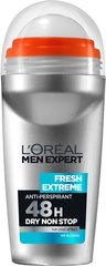 Meeste rulldeodorant L'oreal Paris Men Expert Fresh Extreme Anti-Perspirant Roll-On 50 ml