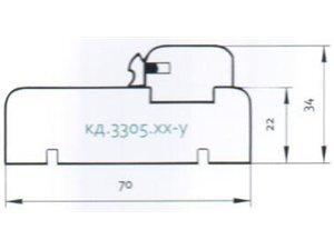 Uksepiit MD 33.5 06, pöök