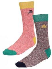 Meeste sokid Tokyo Laundry 2 paari, hall/roosa/must/roheline/kollane