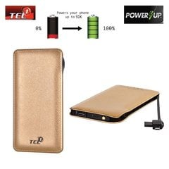 Tel1 Power Bank 12000mAh, kuldne