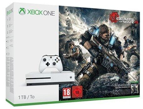 Mängukonsool Microsoft Xbox One S 1TB + Gears of War 4 hind ja info | Mängukonsoolid | kaup24.ee