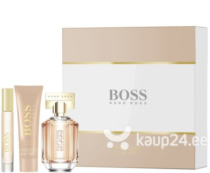Komplekt Hugo Boss Boss The Scent For Her: EDP naistele 50 ml + ihupiim 50 ml + EDP naistele 7,4 ml