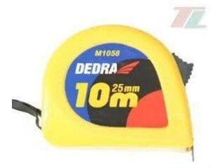 Рулетка 10м/25мм Dedra цена и информация | Рулетка 10м/25мм Dedra | kaup24.ee