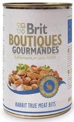Konserv koertele Brit Care Boutiques Gourmandes küülikuliha tükkidega, 400 g
