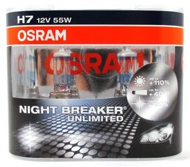 OSRAM лампы H7 55Вт 12В Night Breaker Unlimited