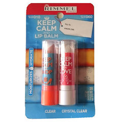Huulepalsamite komplekt Rimmel Keep Calm And Lip Balm 2 x 3.7g
