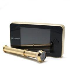 Uksesilm kaameraga, kuldne/must