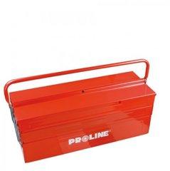 Metallist tööriistakohver PROLINE, 3 sektsioonid hind ja info | Tööriistakastid, hoidjad | kaup24.ee