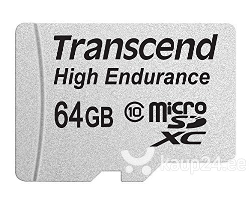 Mälukaart Transcend 64GB microSDXC 10 klass + SD adapter