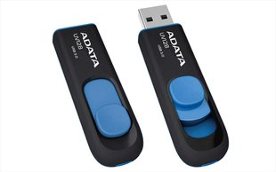 Mälupulk A-data UV128 32GB, USB 3.0, must/sinine