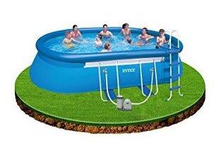 Täispuhutav bassein Intex Oval frame 610 x 366 x 122 cm