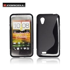 Kaitseümbris Forcell Back Case sobib HTC Desire VT (T328T), must