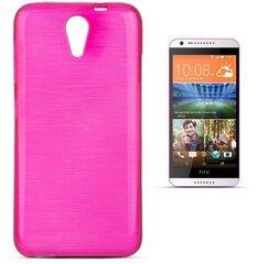 Kaitseümbris Forcell Jelly Brush Pearl Back Case sobib HTC Desire 620, roosa hind ja info | Telefoni kaaned, ümbrised | kaup24.ee