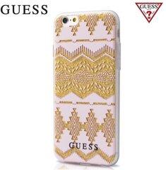 "Kaitseümbris GUESS Aztec sobib Apple iPhone 7 4.7"", läbipaistev/roosa цена и информация | Чехлы для телефонов | kaup24.ee"