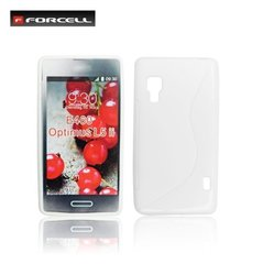 Kaitseümbris Forcell Back Case S-Line LG Optimus L5 2 E460 silicone/plastic case White