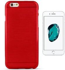 "Kaitseümbris Forcell Jelly Brush Pearl Back Case sobib Apple iPhone 7 4.7"", punane"