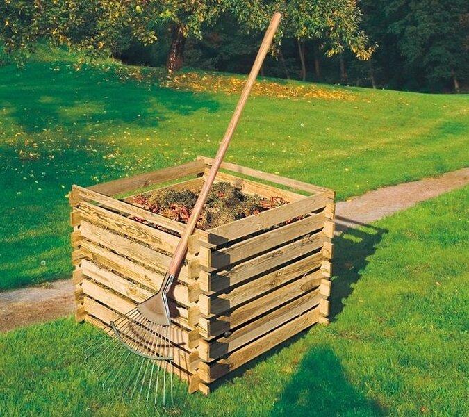 Puidust kompostikast, 600L
