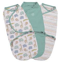 Beebi mähkimistekk Summer Infant Original Swaddle, 3 tk, suurus S, Sketchy Safari