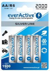 Aku everActive Silver Line Ready to Use 2000mAh AA, 4 tk