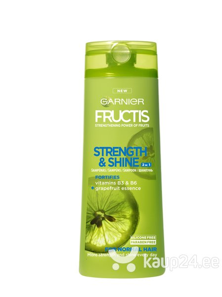 Šampoon normaalsetele juustele Garnier Fructis Strenght And Shine 400 ml