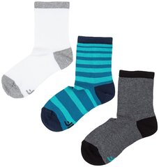 Laste sokid 4F, 3 paari, valge/sinine/hall I