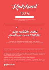 Elektrooniline kinkekaart, 100 € hind ja info | Kaup24.ee kinkekaardid | kaup24.ee