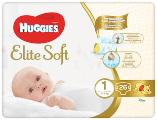 Подгузники Huggies Elite Soft, размер 1, 26 шт. цена и информация | Для ухода за младенцем | kaup24.ee