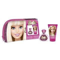 Komplekt Barbie: EDT tüdrukutele 50 ml + dušigeel 100 ml + kosmeetikakott