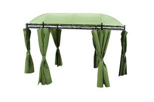 6-seinaline varikatus, roheline I цена и информация | Тенты и садовые павильоны | kaup24.ee