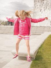 Tüdrukute lühikesed püksid Trespass Wini Fuchsia Stripe