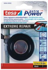 Isevulkaniseeruv teip tesa EXTREME REPAIR 2.5mx19mm must