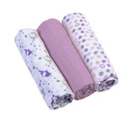 Puuvillast rätikud BabyOno 348/04 lilla, 3tk