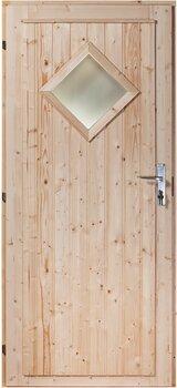 Välisuks Nordic, teemantkujulise aknaga hind ja info | Välisuksed | kaup24.ee