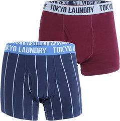 Meeste aluspesu Toyko Laundry, 2tk, bordoo/sinine