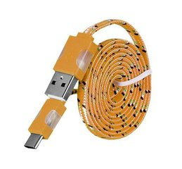 LED kaabel Mocco Type-C-USB 1m, oranž