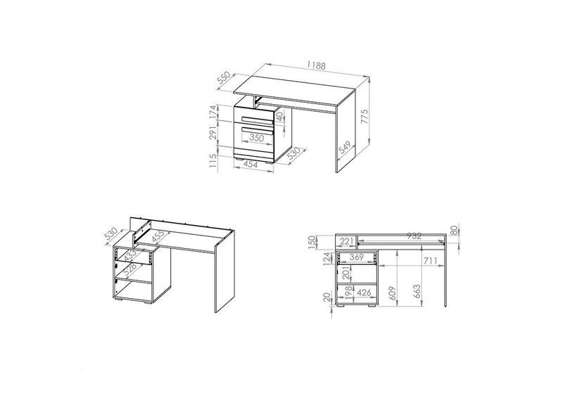 Arvutilaud Blanco 11, valge/pruun hind