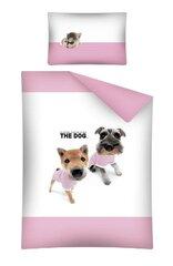 Laste voodipesukomplekt 2-osaline, The dog, roosa