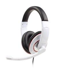 Gembird - Kõrvaklapid mikrofoniga MHS-001-GW must-valge hind ja info | Gembird - Kõrvaklapid mikrofoniga MHS-001-GW must-valge | kaup24.ee
