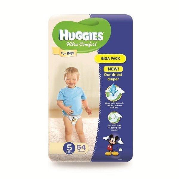 Huggies Ultra Comfort Giga подгузники 12-22 кг, 64 шт.