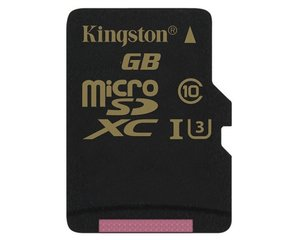 Mälukaart Kingston 64 GB microSDXC Class U3 UHS-I 90R/45W