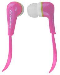 Kõrvasisesed kõrvaklapid stereo heliga Esperanza EH146K LOLLIPOP, roosa hind ja info | Kõrvaklapid, mikrofonid | kaup24.ee