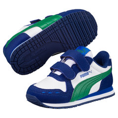 Puma спортивная обувь для девочек Cabana Racer SL V, White-Verdant