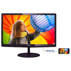 "LED 24"" 247E6LDAD/00 FHD 1920X1080 16:9 20M:1 (TYP 1000:1) 250CD 5MS 170/160 VGA/DVI/HDMI, MHL, SPEAKERS 2X3W C:BLACK CHERRY"