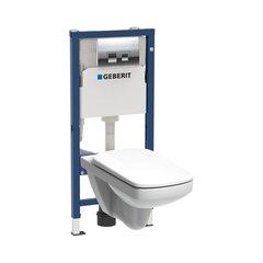 WC komplekt Kolo Unifix Nova Pro: WC süvistatud raam + WC-pott + nupp + aeglaselt sulguv kaas, valge