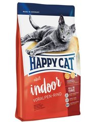 Kuivtoit kassidele Happy Cat Indoor veiselihaga, 4 kg​