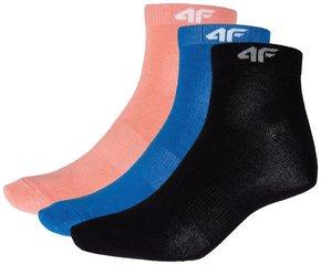 Naiste sokid 4F SOD002 3tk, must/oranž/sinine